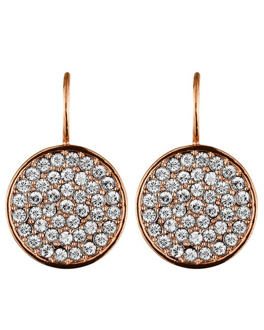 Dyrberg/Kern | Pink Desria Rose Gold Crystal Earrings | Lyst