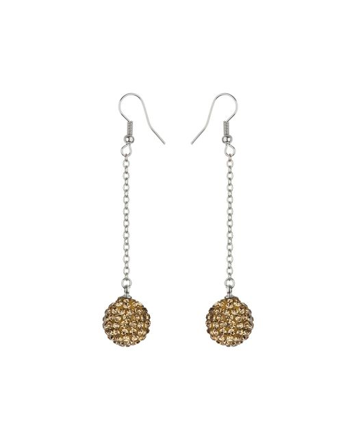Mikey | Metallic 14mm Crystal Drop Earrings | Lyst