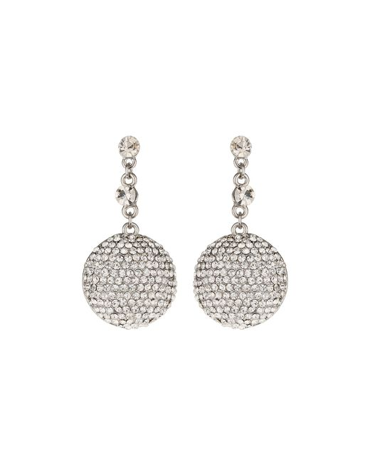 Mikey | White Round Ball Earrings | Lyst