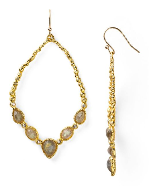 Alexis Bittar | Gray Lucite, Swarovski Crystal & 10k Yellow Gold Drop Earrings | Lyst