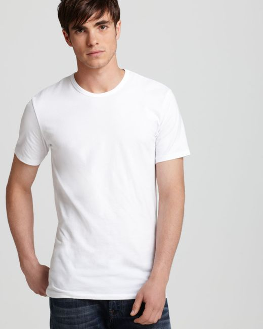 Calvin Klein | White Cotton Stretch Crewneck Undershirt, 2-pack for Men | Lyst