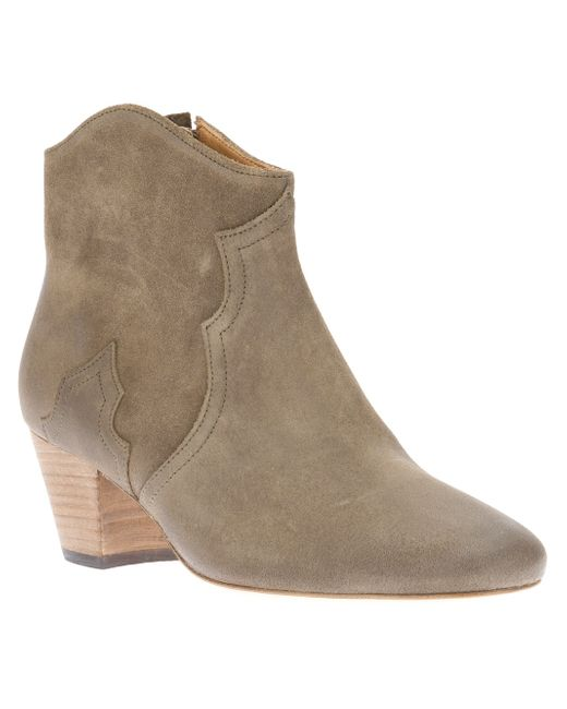 Isabel Marant | Brown Dicker Suede Ankle Boots | Lyst