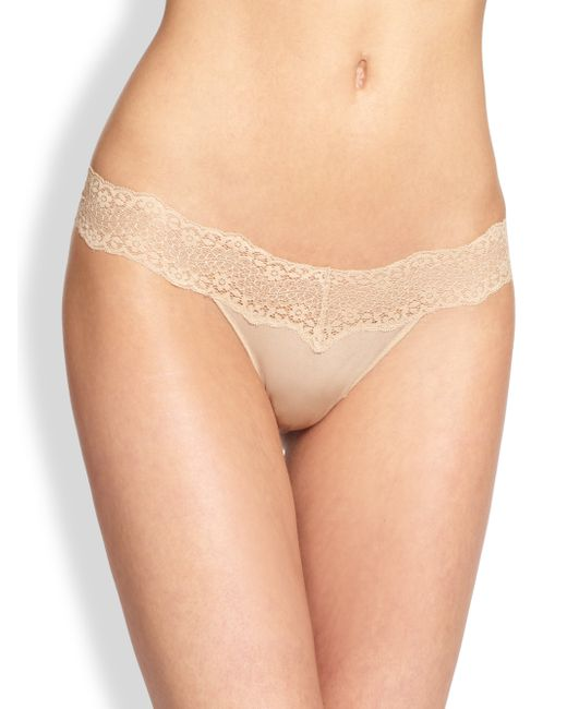 Le Mystere | Natural Perfect Pair Lace Bikini Briefs | Lyst