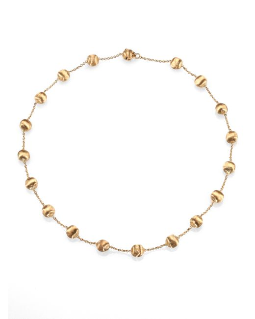Marco Bicego | Metallic Africa 18k Yellow Gold Ball Station Necklace | Lyst