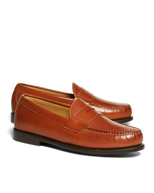 Brooks Brothers | Brown Classic Penny Loafers for Men | Lyst