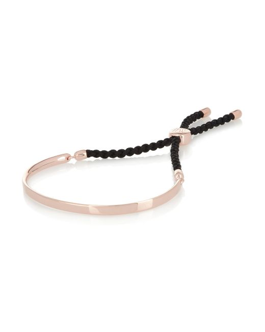 Monica Vinader | Metallic Havana 18ct Rose Gold-plated Friendship Bracelet | Lyst
