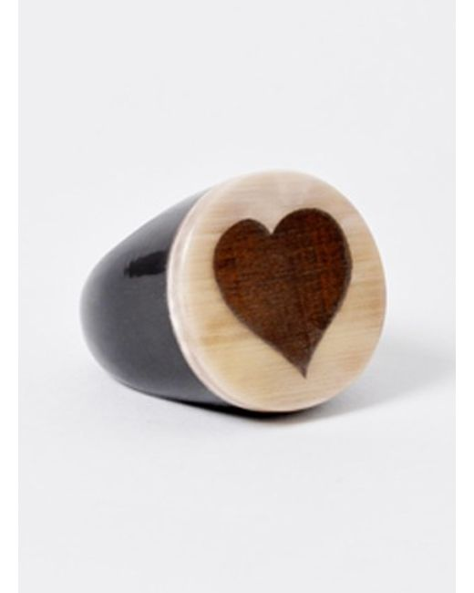 J.W.Anderson | White Heart Circle Ring - Last One | Lyst