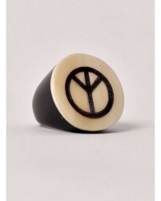 J.W.Anderson | White Peace Symbol Ring - Last One | Lyst