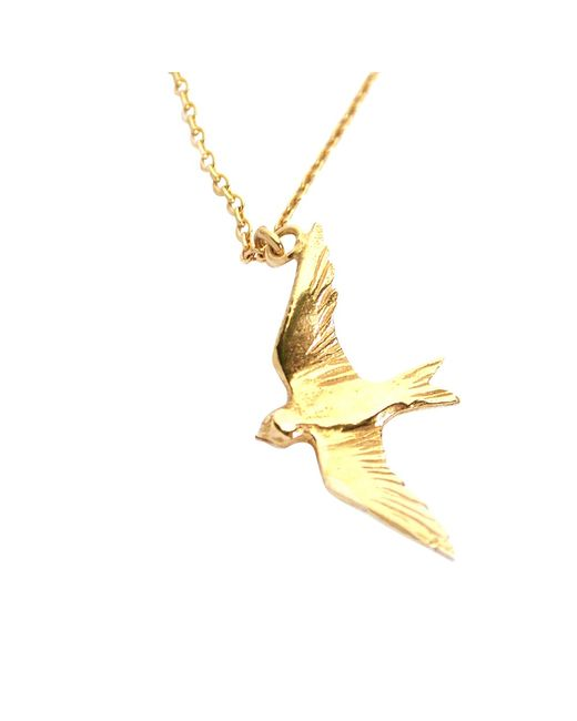 Alex Monroe | Metallic Flying Swallow Pendant Necklace | Lyst