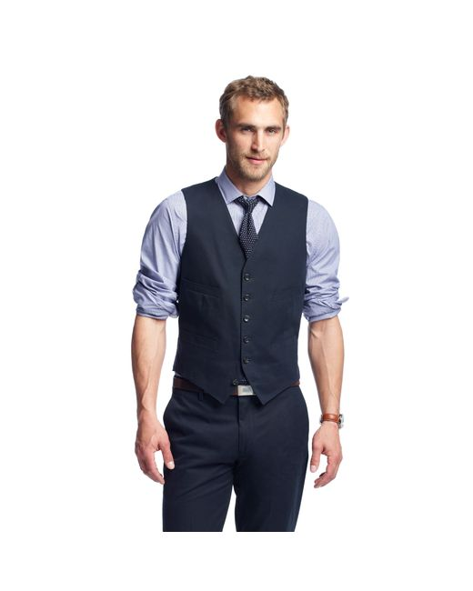 J.Crew | Blue Ludlow Suit Vest In Italian Chino for Men | Lyst