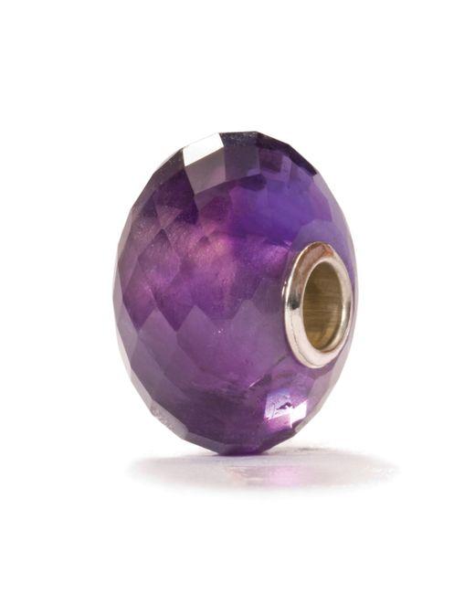Trollbeads | Purple Amethyst Stone Charm Bead | Lyst