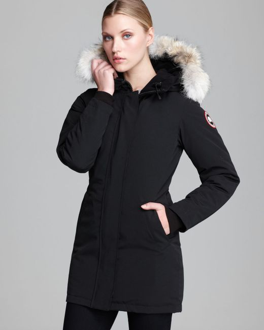 canada goose victoria coat in black lyst. Black Bedroom Furniture Sets. Home Design Ideas