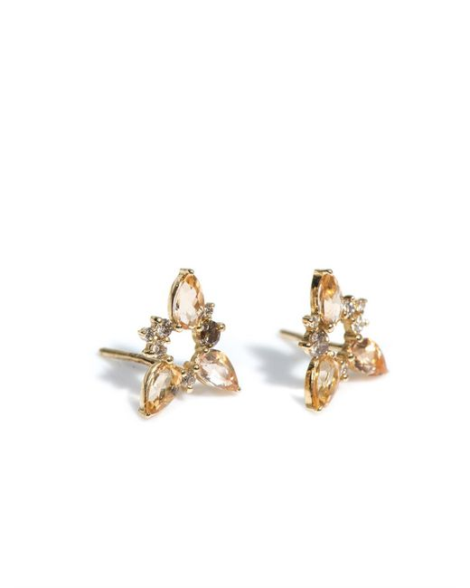 Fernando Jorge   Yellow Diamond, Topaz & Gold Electric Spark Earrings   Lyst