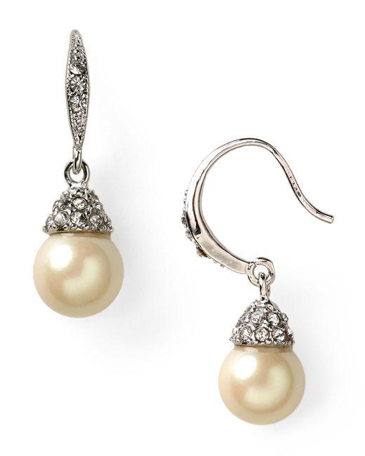 Carolee | Natural Looking Glass Drop Earrings | Lyst