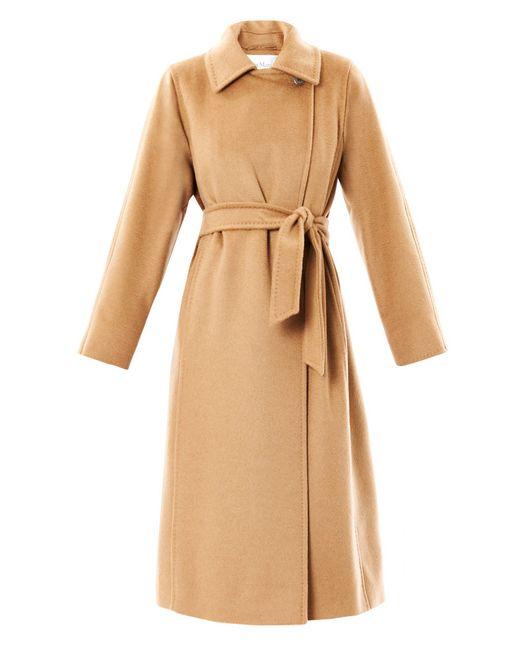Max Mara | Beige Manuela Camel-Hair Coat | Lyst