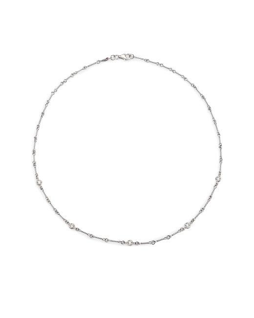 Roberto Coin | Metallic Diamond & 18k White Gold Station Necklace/16 | Lyst