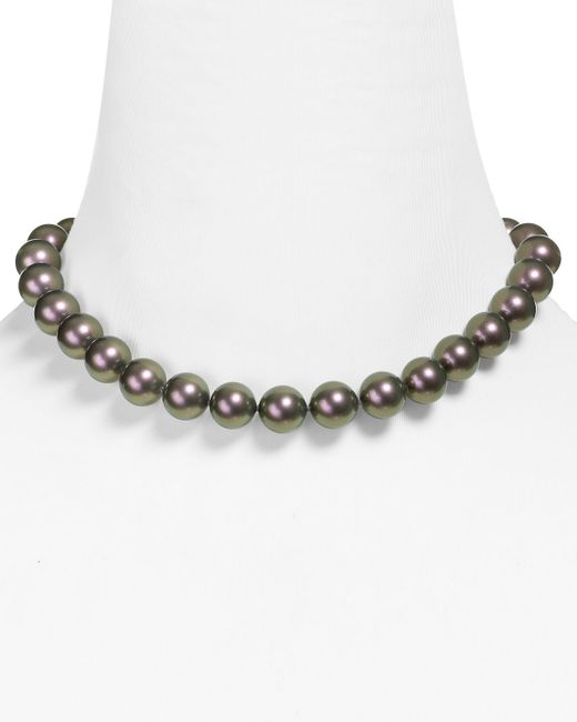Majorica | Gray Monochrome Round Tahian Simulated Pearl Necklace, 16"