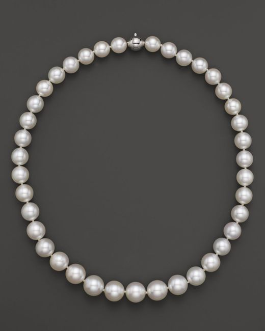"""Tara Pearls   White South Sea Cultured Pearl Strand Necklace, 17""""   Lyst"""