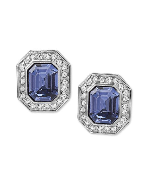 Carolee | Metallic Earrings, Silver-tone Emerald-cut Clip-on Earrings | Lyst