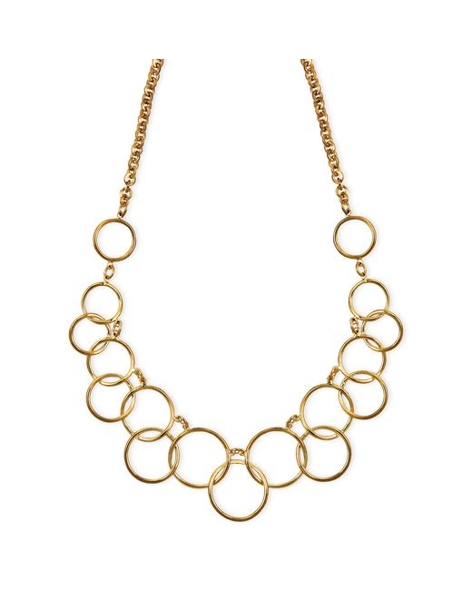 Nine West | Metallic 1necklace, Gold-tone Circle Frontal Necklace | Lyst