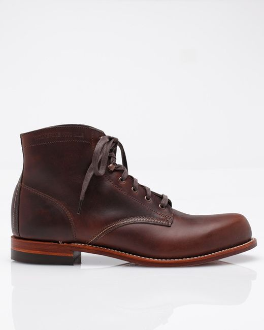wolverine 1000 mile boot in brown in brown for lyst