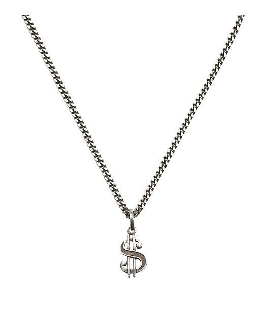 Saint Laurent   Metallic Dollar Sign Necklace for Men   Lyst