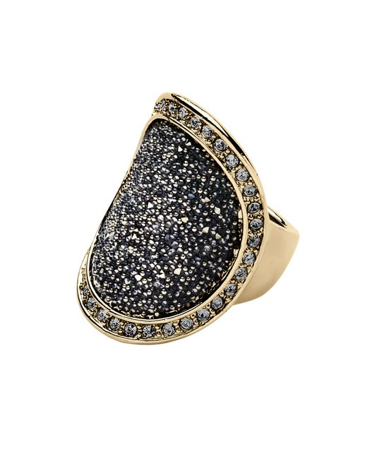 Dyrberg/Kern | Metallic Carly Shiny Gold Grey Ring | Lyst