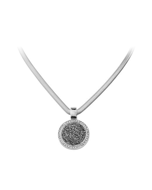 Dyrberg/Kern | Metallic Celine Shiny Silver Grey Necklace | Lyst