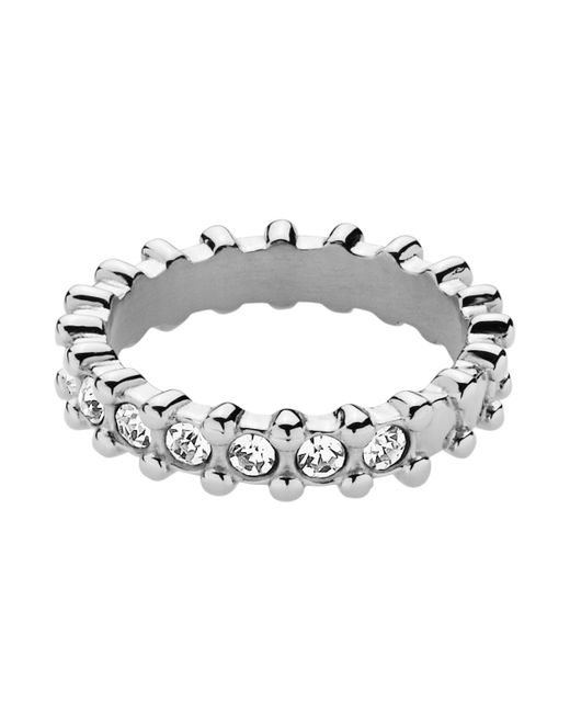 Dyrberg/Kern | Metallic Gafa Shiny Silver Crystal Ring | Lyst