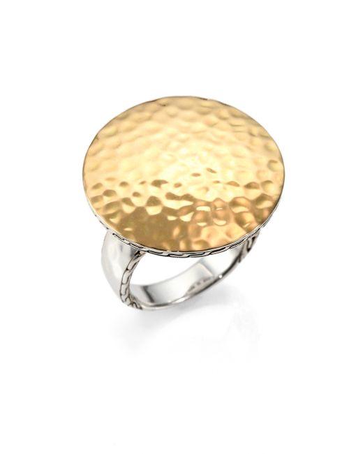John Hardy | Metallic Palu 18k Yellow Gold & Sterling Silver Round Ring | Lyst