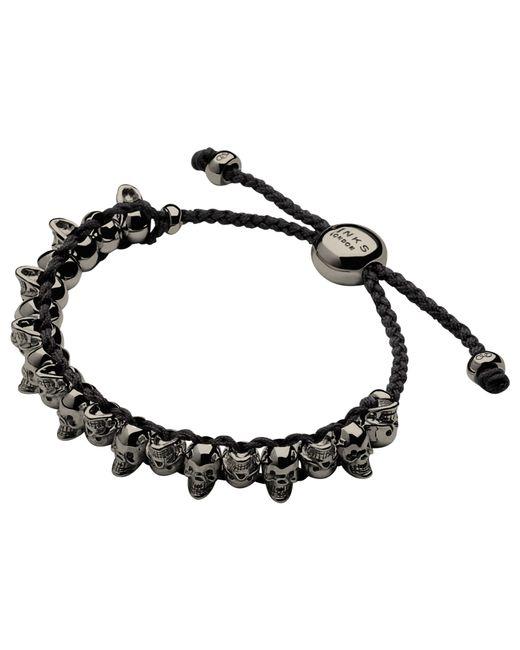 Links of London | Black Silver Skull Friendship Bracelet | Lyst