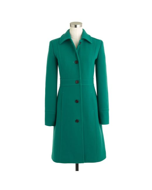 J.Crew | Green Double-cloth Lady Day Coat with Thinsulate® | Lyst