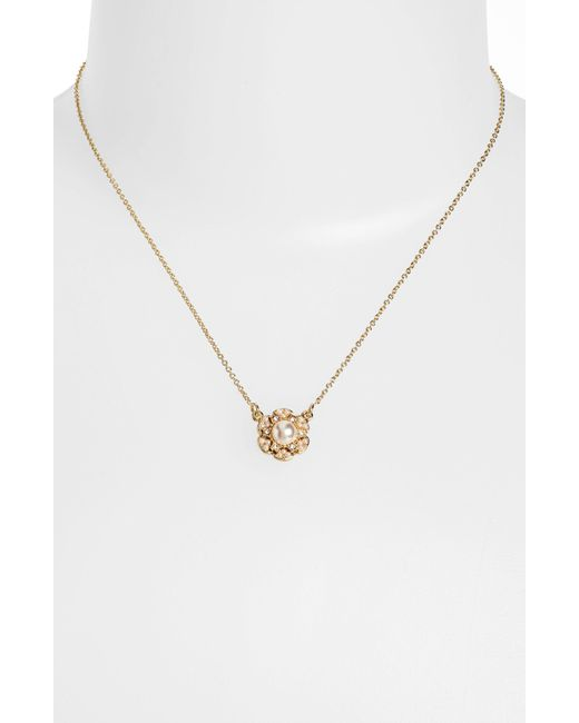 Kate Spade | Metallic Kiss A Prince Dreamboat Gold Plated Pendant Necklace | Lyst