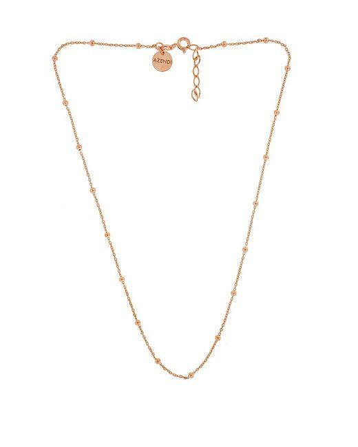 Azendi | Metallic Sterling Silver/18ct Rose Gold Vermeil Necklace | Lyst