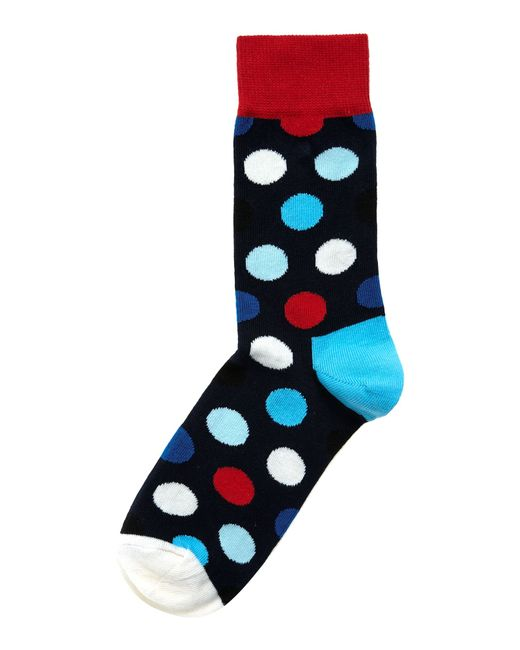 Happy Socks | Blue Big Dot Ankle Socks | Lyst