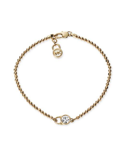 Michael Kors | Pink Pavé Slider Bracelet | Lyst