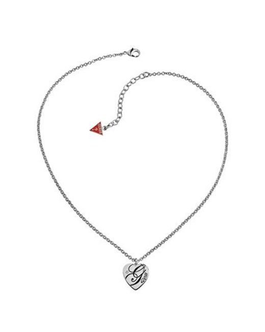 Guess | Metallic All Mixed Up Heart Necklace | Lyst