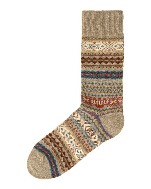Barbour | Brown Boyd Fairisle Sock for Men | Lyst
