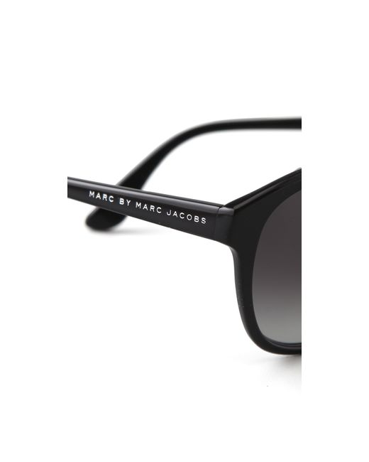 Marc By Marc Jacobs Round Frame Glasses : Marc by marc jacobs Round Sunglasses - Havana in Black Lyst