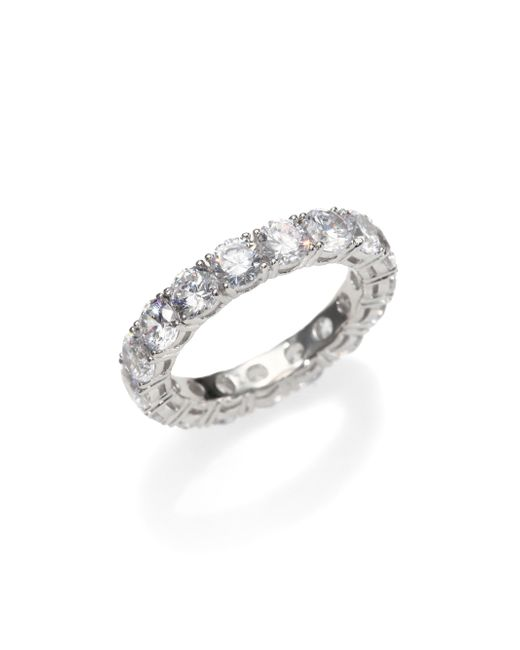 Adriana Orsini | Metallic Sterling Silver Eternity Band Ring | Lyst
