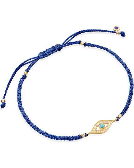 Astley Clarke | Blue Evil Eye Woven Friendship Bracelet | Lyst