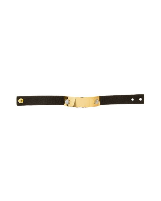 Lizzie Fortunato | Black Darby Leather With Plate Bracelet | Lyst