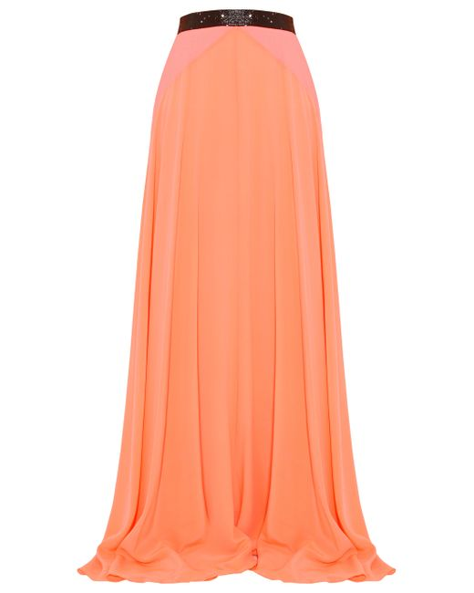 Roksanda | Orange Moreton Stretch Silk Maxi Skirt | Lyst