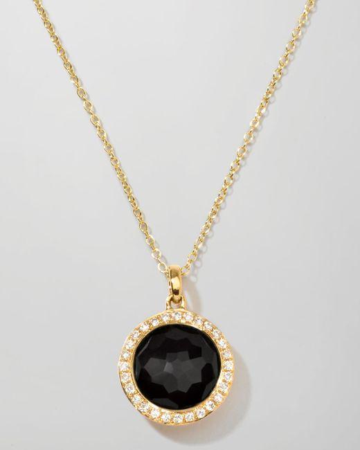 Ippolita | Black Rock Candy 18k Gold Mini Lollipop Necklace In Onyx & Diamond | Lyst