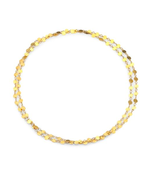 Gurhan | Metallic Lush 24k Yellow Gold Long Flake Necklace | Lyst