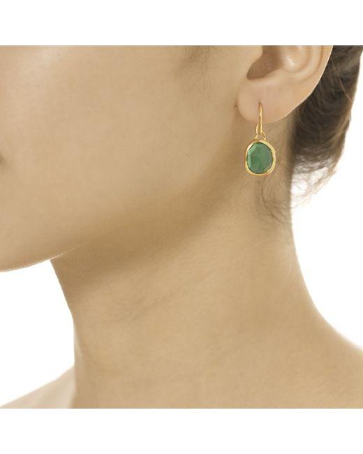 Monica Vinader | Green Siren Wire Earrings | Lyst