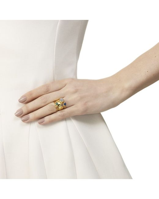 Monica Vinader | Metallic Siren Stacking Ring | Lyst