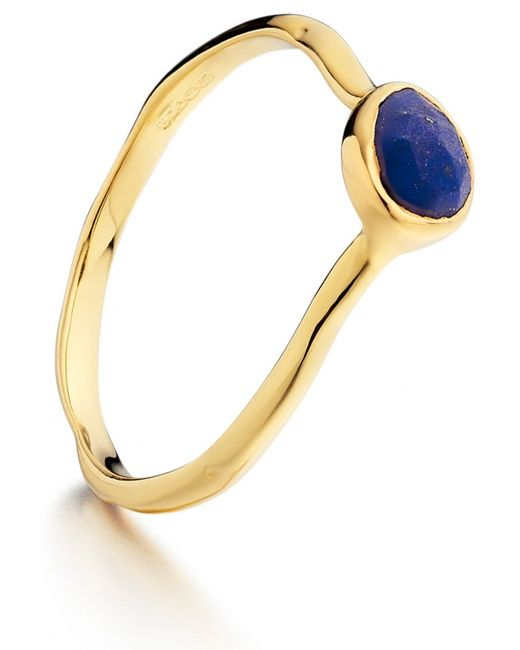 Monica Vinader | Metallic Siren Small Stacking Ring | Lyst