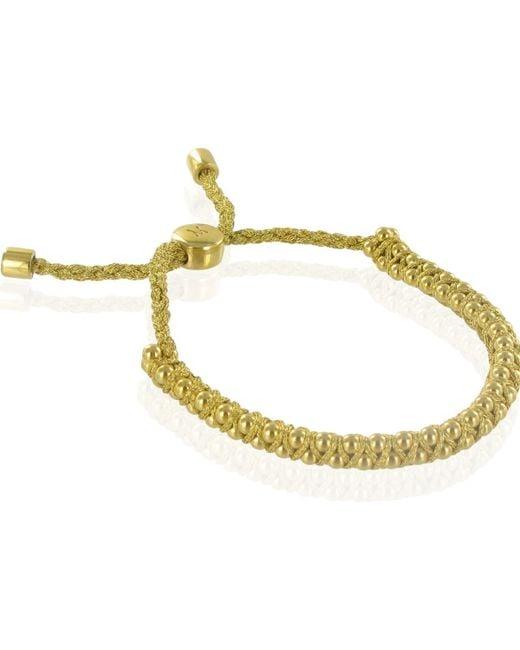 Monica Vinader | Metallic Linear 18ct Gold-plated Woven Friendship Bracelet | Lyst