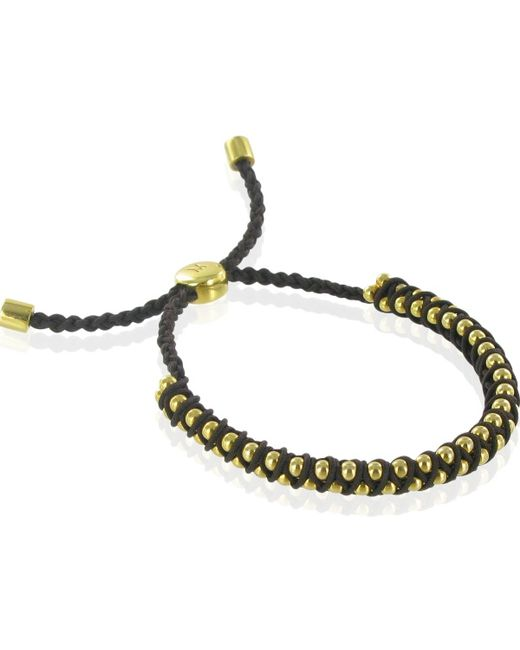 Monica Vinader   Metallic Esencia Goldplated Diamond and Gemfields Emerald Bracelet   Lyst